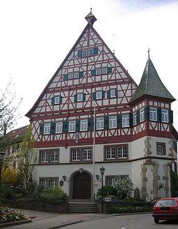 Das Rathaus von Münchingen