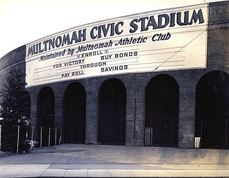 Providence Park - Providence Park (then known as Multnomah Civic Stadium) photographed in 1941