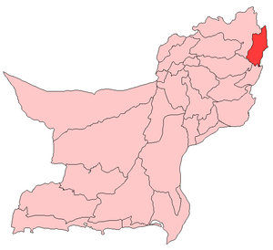 Map of Balochistan with Musakhel District highlighted