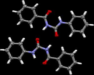 N-Benzoyl-N'-phenylurea - Image: N Benzoyl N' phenylurea dimer SXD