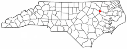Location of Oak City, North Carolina