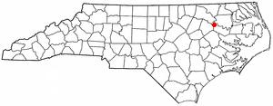 Oak City, North Carolina - Image: NC Map doton Oak City
