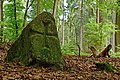 ND WL 00014 Teilstück des Wanderblocks nordischer Herkunft mit eingehauenem Kreuz, Rosengarten, Landkreis Harburg, NI.jpg