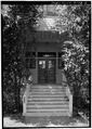 NORTHEAST (FRONT) ENTRANCE - Griffin-Drell House, 570 Alvarado Road, Stanford, Santa Clara County, CA HABS CAL,43-STANF,6-3.tif