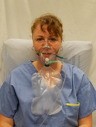 Oxygen mask - A non rebreather face mask