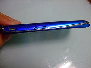 Sony Ericsson Xperia acro - Image: NTT DOCOMO XPERIA ACRO SO 02C Side