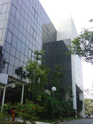 NUS School of Computing -  I³. NUS SoC maintains some facilities at Level 3 of this building, formerly occupied by I²R.