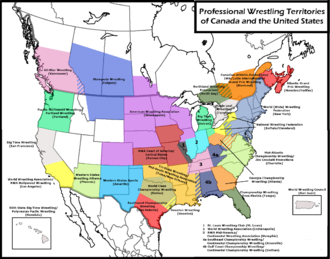 History of professional wrestling in the United States - The NWA territory system in North America