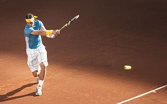 Rafael Nadal - Nadal at the 2010 Mutua Madrileña Madrid Open, Madrid, Spain