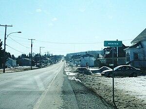 Nantes, Quebec - Entrance to Nantes.