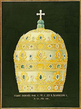 Napoleon Tiara - Drawing of the original Napoleon Tiara (1805)