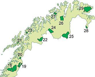 Ånderdalen National Park - Image: Nasjonalparker Nord Norge