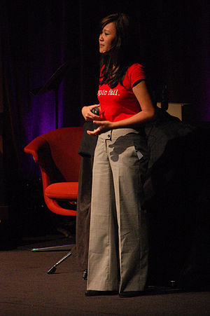 Natalie Tran speaking at the EG2010 conference...