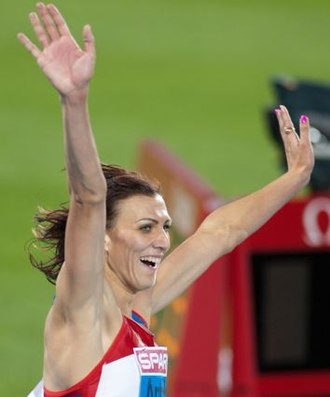 Natalya Antyukh - Natalya Antyukh after winning the 400 metres hurdles in 52.92 at the European Championships in Barcelona 2010.