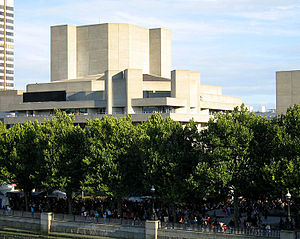 South Bank - The National Theatre is one of the collection of arts buildings on the South Bank.