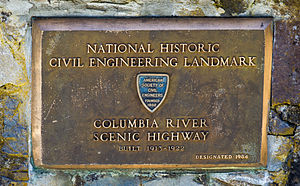 Historic Columbia River Highway - National Historic Civil Engineering Landmark, found near Multnomah Falls on the Columbia River Scenic Highway