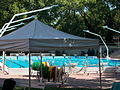 National Swimming Pool. Eastern, small pool. Listed ID 1200. - Margaret Island, Budapest, Hungary.JPG