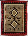 Navajo blanket or rug, Honolulu Museum of Art, 4420.1.JPG