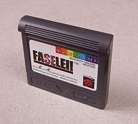 The cartridge of the game Faselei!
