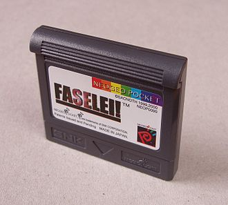 Neo Geo Pocket Color - Close-up of the Faselei! game cartridge