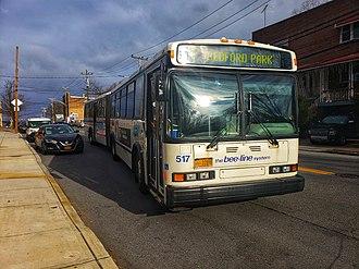DASH (bus) - a Bee-Line Neoplan AN460, on its original scheme