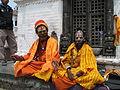 Nepal - Kathmandu - 017 - Sadhus at Pashupatinath Temple (492199220).jpg