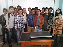 Nepali Wikimedia with OSAC in Amrit Campus.jpg