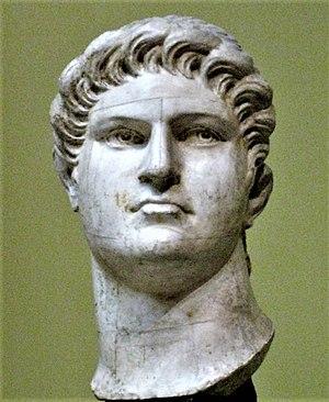 Emperor Nero. Plaster cast in Pushkin museum a...