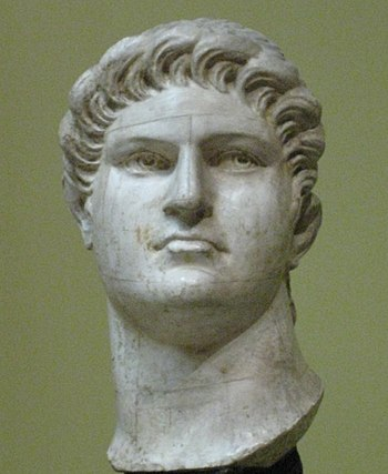 Emperor Nero. Plaster cast in Pushkin museum a...