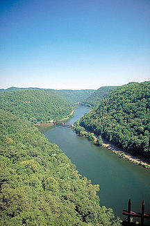 New River im Hawks Nest State Park