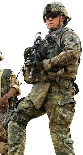 Uniforms of the United States Army - 1st Armored Division soldier in 2008 wearing the Army Combat Uniform