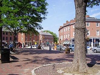 North Shore (Massachusetts) - Market Square in downtown Newburyport, Massachusetts.