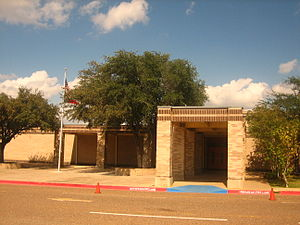 B.P. Newman - Front entrance to Newman Elementary School in Laredo