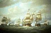 Nicholas Pocock - Duckworth's Action off San Domingo, 6 February 1806