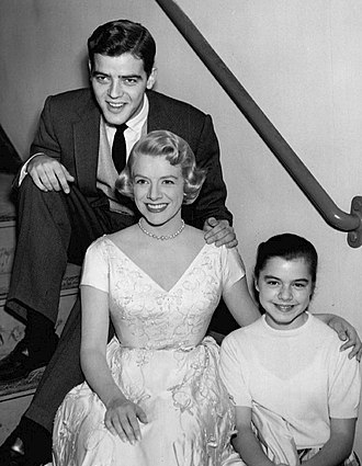 Nick Clooney - Nick and sisters Rosemary Clooney and Gail Stone at Rosemary's television program, The Lux Show, in 1957. Gail did not pursue a career in entertainment.