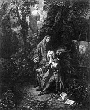 Nicolas-Henri Tardieu - Watteau et son ami Monsieur de Jullienne, 1731.