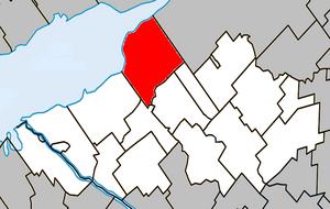 Nicolet, Quebec - Image: Nicolet Quebec location diagram