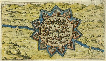 1597年に作成されたキプロス・ニコシアの地図