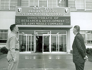 Nike Zeus - The project office at Redstone Arsenal was also home to the earlier Nike efforts.
