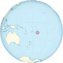 Description de l'image  Niue on the globe (Polynesia centered).svg.