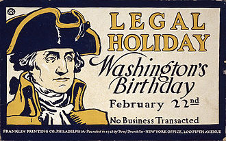 Washington's Birthday - Image: No Business Transacted poster 3g 12934u