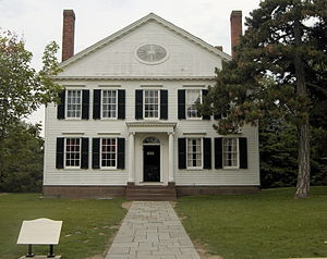 Noah Webster - Webster's New Haven home, where he wrote An American Dictionary of the English Language. Now relocated to Greenfield Village in Dearborn, Michigan.