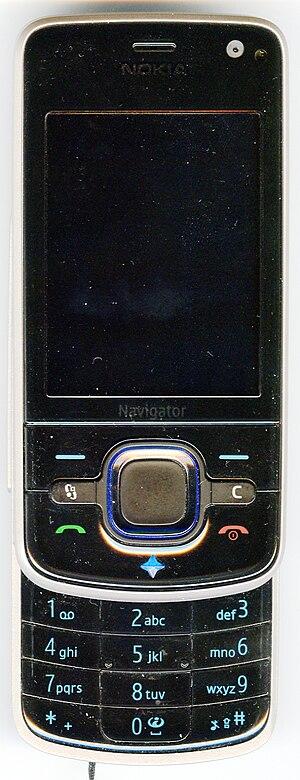 Nokia 6210 Navigator - Image: Nokia 6210Navi open