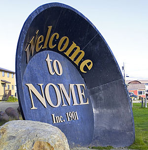 Nome, Alaska - Gold Pan, Anvil City Square