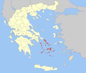 Thira (regional unit) - Image: Nomos Kykladon