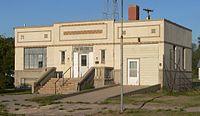 Norcatur, Kansas 1937 city hall from SW 2.JPG