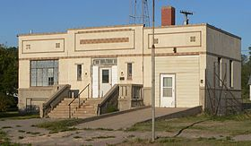 Norcatur, Kansas 1937 city hall from SW 2.JPG
