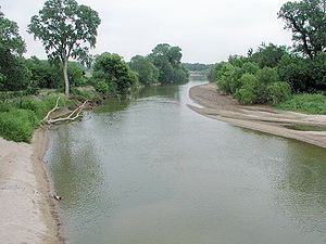 North Canadian River - The North Canadian River near Yukon, Oklahoma