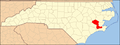 North Carolina Map Highlighting Craven County.PNG