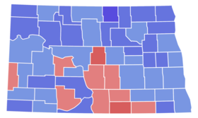 North Dakota Senate Election Results by County, 1964.png